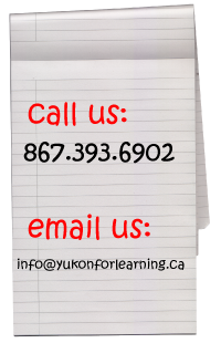 Yukon Food for Learning information - notepaper image